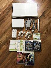 Nintendo Wii System Console Bundle + Sports+Fit+Zumba+Dance+Michael Jackson++
