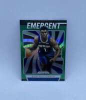 2019 Zion Williamson Prizm Green Emergent Green Pelicans Rookie SP Panini MINT