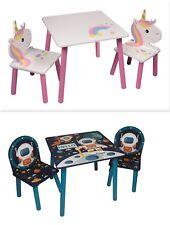 3tlg. Holz Kindersitzgruppe AUSWAHL Tisch + 2 Stuhl Maltisch Kindertisch Stühle