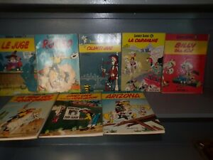 LOT OF 8 LUCKY LUKE Morris - 1969 Comic Softcover BOOKS FRENCH
