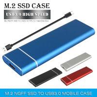 2TB USB3.0/3.1 M.2 Hard Drive Disk SSD Enclosure External Mobile for Wins Mac PC