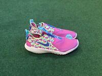 Nike Girl's Flex Runner Slip On Athletic Shoes Pink / Aqua Y Sz 6.5Y = Women's 8