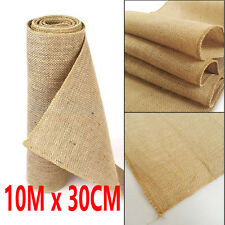 10M x 30CM Hessian Table Runners Hessian Roll Fabric Burlap Jute Rustic Wedding