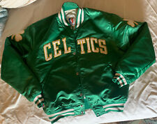 VTG STARTER JACKET BOSTON CELTICS SZ L  MEN NBA 90S SEWN SATIN