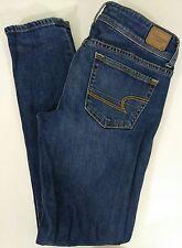 AMERICAN EAGLE Women's Jeans Skinny Stretch - Dark Wash - Size 4 Reg. - 5ts