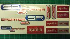 Aprilia SR50 SPORTER decals, stickers, graphics, racing SR 50 blue red silver