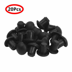 """20 Glass Table Top Bumpers Rubber Stem Pads Spacer for Patio Furniture 1/4"""" Hole"""