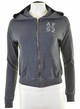 ABERCROMBIE & FITCH Womens Hoodie Sweater Size 10 Small Blue Cotton  ND17
