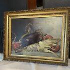 * Vintage * Original * Still Life * Oil On Board * Birk * 1894*