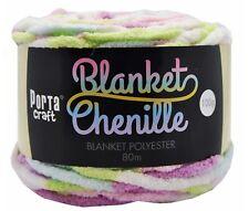Chenille Blanket Yarn 100g 80m Multi Pastel Rainbow