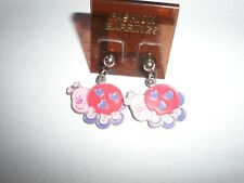 Valentine ladybug enamel earrings-posts