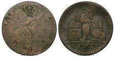Rare 5 centimes 1811 (1841) Léopold Premier Belgique (module très large? 31mm)