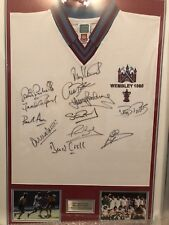 West Ham United signed Shirt 1980 Fa cup Final framed + authenticity cert