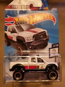 HOT WHEELS '10 TOYOTA TUNDRA 2020 OLYMPIC GAMES TOKYO 2/10 WHITE Collectors Item