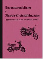 Simson S 51/1 S 70/1 SR 50/1 SR 80/1 Reparaturanleitung Werkstatthandbuch Manual