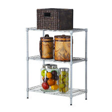 Kitchen Baker Rack Utility Microwave Oven Stand Storage Workstation Shelf Silver