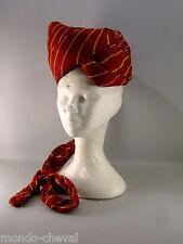 INDE ! CHAPEAU en forme de turban, coton