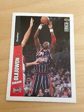 STICKER CARD UPPERDECK NBA BASKETBALL 96/97 #59 HAKEEM OLAJUWON ROCHETS BASKET