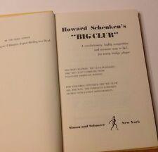 "Howard Scheken's "" Big Club"" Hardcover1968- REVOLUTIONARY  BRIDGE BIDDDING"