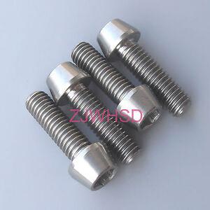 4pcs M6x20 Titanium Ti Screw Bolt Allen hex Taper Socket Cap head/AerospaceGrade
