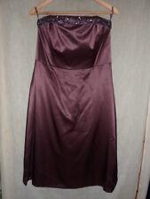 100% Silk Wedding Evening Monsoon Sequin Dress Size UK 14 EU 42 Beads