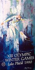 LeRoy Neiman Poster Figure Skater Olympic Winter Game Lake Placid Make Offer!!