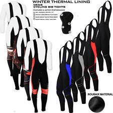 Mens Cycling Bib Tights Thermal Long Leggings Cycling Trousers Anti Bac Padded