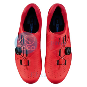 NEW SHIMANO SH-RC300 E RC3 ROAD SHOES WIDE RED