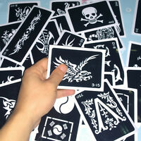 100pcs/lot henna airbrush tattoo stencil body paint template pictures designs