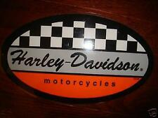 "HARLEY DAVIDSON RACING CHECKERS DECAL STICKER 3.7"" X 2.2"" (INSIDE)NEW"