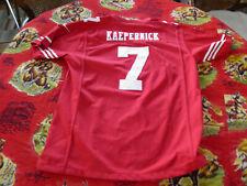 NIKE on Field NFL Colin KAEPERNICK #7 San Francisco 49er's RED Jersey Youth XL