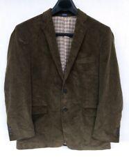 Men's Brown Corduroy Saddlebred Blazer Suit Jacket Size 44R 100% Cotton
