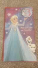 Disney Frozen Elsa Birthday Card with Badge Age 3 Carlton Cards New