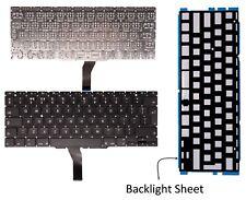 "Compatible Apple Macbook Air 11"" MC505LL/A New Backlit Keyboard Black UK Layout"