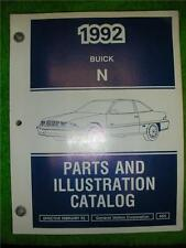 1992 GM BUICK SKYLARK PARTS & ILLUSTRATION CATALOG N NUMBER DIAGRAM MANUAL BOOK