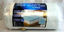 "Arctic Sleep King 5 Zone Memory Foam Mattress Topper 1/2"" Thick MFT-406-7K New"