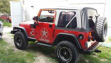 Fits 97-06 Jeep Wrangler TJ Premium Soft Top with 3 Removable Tinted Windows