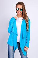 Blazer Waterfall Cardigan Long Sleeve Jacket Shrug Bolero Sizes 8-18 FU526U