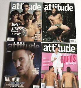 ATTITUDE MAGAZINE x4 Gay Interest Magazine McFly - UK Feb 2006 Feb May June 2007
