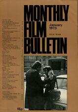 BFI Monthly Film Bulletin 468 - Bernard Verley & Zouzou - January 1973