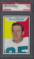 1965 Topps CFL Football Card #116 Jim Vollenweider Graded PSA 7