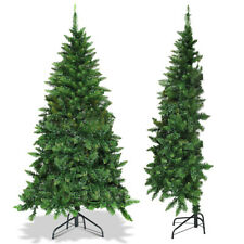 5ft Pre-lit PVC Artificial Half Christmas Tree 8 Flash Modes w/ 250 LED Lights