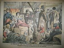 SAINT-OUEN POLICE ZONIERS CRIME FEMME COUPéE EN MORCEAUX LE PETIT JOURNAL 1905