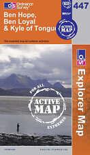 Ben Hope, Ben Loyal and Kyle of Tongue - OS Explorer ACTIVE Map 447 (NEW 2007)
