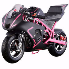 4-Stroke 40CC 1.2L Gas Pocket Bike Mini Motorcycle EPA, Pink/Black (NO CA)