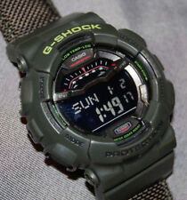 RARE! CASIO G-Shock G-Lide GLS-100-3 Mens Military Green Watch NEW BATTERY!