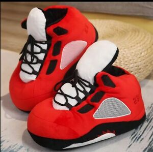 Basketball Sneaker Slippers Men/Women Winter Warm Slippers House Floor Indoor Fu