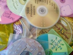 Massive library crafting resources on CDs.  Papers, card making, decopuage, knit