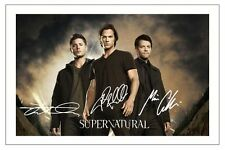JENSEN ACKLES COLLINS JARED PADALECKI SUPERNATURAL SIGNED PHOTO PRINT AUTOGRAPH