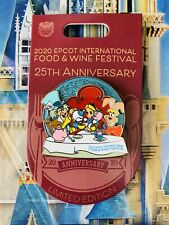 2020 Disney Parks Epcot Food & Wine 25th Pin Alice In Wonderland Le 3000